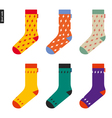 Set of socks with flash pattern Original hipster vector image vector image
