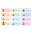 set sweet banners vector image