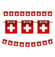 set switzerland garland flag on white vector image vector image