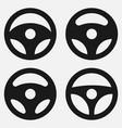 sey car wheel icon collection car rudder logo vector image vector image