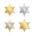 Shefiff Badge Star Set vector image vector image