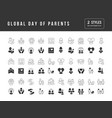 simple icons global day parents vector image