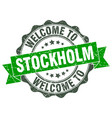 stockholm round ribbon seal vector image vector image