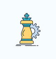 strategy chess horse knight success flat icon vector image
