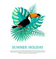 summer holiday poster text vector image vector image