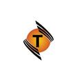 technology letter t vector image