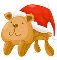 Teddy bear Christmas vector image vector image