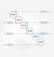timeline infographic design elements vector image