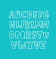 trendy alphabet abc hand lettering vector image