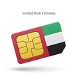 United Arab Emirates mobile phone sim card with vector image