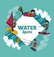 water sports cartoon vector image vector image