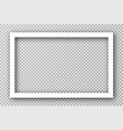 white photo frame for social media with white vector image vector image