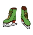 Winter ice skates hand drawn vector image