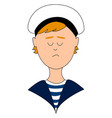young man sailor on white background vector image