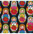 pattern dolls vector image