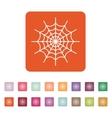 The spiderweb icon Web symbol Flat vector image