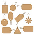set of craft retro price tags business blank vector image