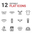 12 textile icons vector image vector image