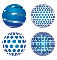 3d globes vector image vector image