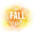 autumn label on colorful watercolor vector image