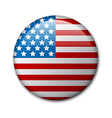 badge with american flag vector image vector image