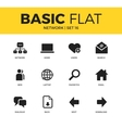 Basic set of Network icons vector image vector image