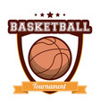 basketball tournament sport banner vector image