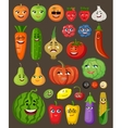 Big set of fruit and vegetables with persons and vector image vector image