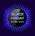 black friday abstract banner vector image