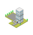 building isometric vector image vector image