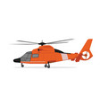 cartoon of helicopter vector image vector image