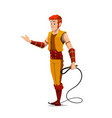 circus tamer or performer with whip vector image