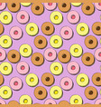 cookies pattern hand drawn vector image