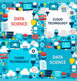 data science paper templates vector image vector image