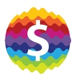Dollar Rainbow Color Icon for Mobile Applications vector image vector image
