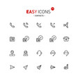 Easy icons 27a contacts vector image