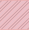elegant pink diagonal texture seamless striped vector image vector image