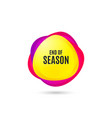 end of season sale special offer price sign vector image vector image