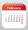 february calendar vector image vector image