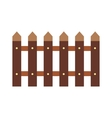 Fence flat icon vector image vector image