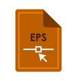 File EPS icon flat style vector image vector image