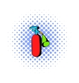 Fire extinguisher icon comics style vector image vector image