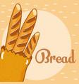 fresh and delicious bread vector image