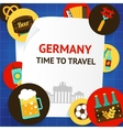 Germany background template vector image vector image