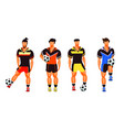 group of football players vector image vector image