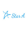 hand drawn star logo vector image