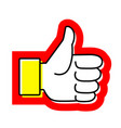 hand thumb up flat icon like vector image