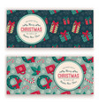 holiday objects pattern and greeting text vector image vector image