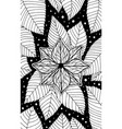 hydrangea - flower black and white vector image vector image