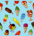 ice cream icy cream or icecream in cone vector image